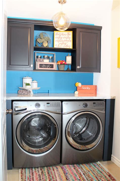Believe Home Decor by The Big Reveal Simple Laundry Room Ideas Fynes Designs