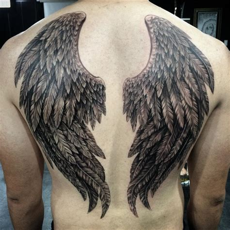 angel wing tattoo on back wing back for www pixshark images