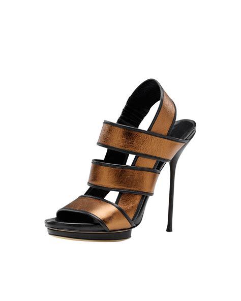 gucci high heel sandals gucci bette high heel platform sandal bronze metallic in
