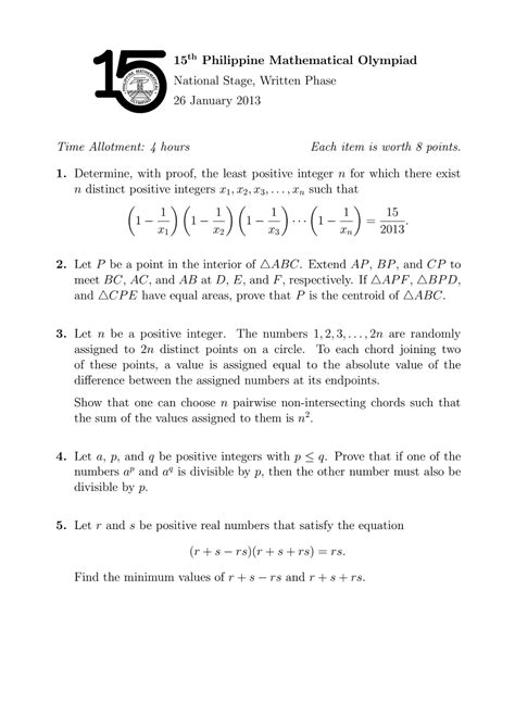 Essays In Constructive Mathematics Pdf by Maths Olympiad Past Papers Grade 12 Pdf Maths Paper 3 Helpstudentbounty Pastpapers Essays