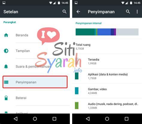 Memori Hp Android memori pesan penuh di android