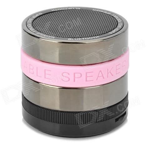 Speaker Bluetooth M 9 Gold Pink Silver portable bass bluetooth v2 1 edr speaker w microphone fm black silver pink