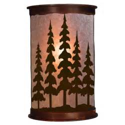 rustic wall sconces rustic pine trees wall sconce ironwood industries