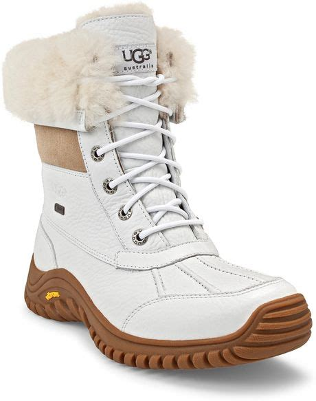 white ugg boots for ugg adirondak snow boots in white lyst