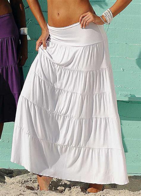 beachtime white tiered maxi skirt swimwear365