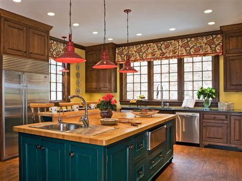 kitchen island color ideas 30 colorful kitchen design ideas from hgtv kitchen ideas