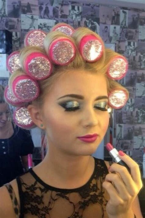 women who curls sissys hair in rollers glitter curlers it s all about that bouji life