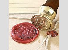 Scroll Initial Wax Seal Kit - Ceramic Handle & Red Sealing Wax Letter Sealing Wax Kit