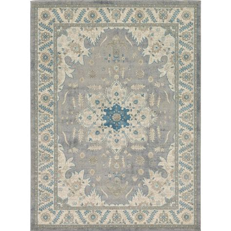 personalized rugs for home unique loom salzburg gray 8 ft x 11 ft rug 3125567 the home depot