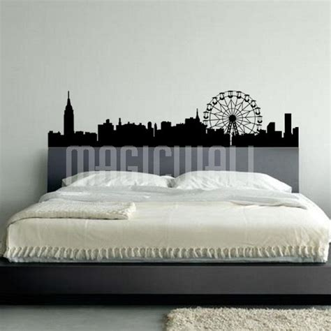 wall stickers city city silhouette wall decals canada wall stickers