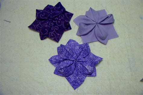 Origami Blocks - fabric origami quilt block