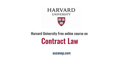 Harvard Mba Courses Free by Harvard Free Course On Contract