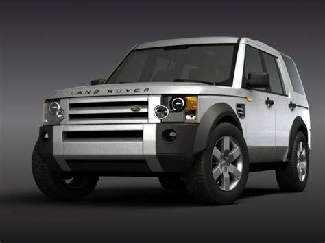 Land Rover Discovery 3 3d Model Sport Poligon, 3ds max obj AR VR
