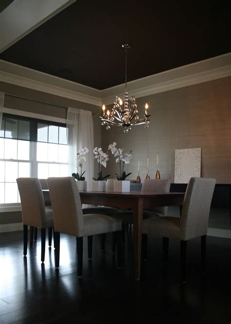 Modern Dining Room Molding Modern Crown Molding Spaces With None Beeyoutifullife