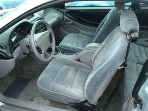 opal silver 1995 ford mustang coupe
