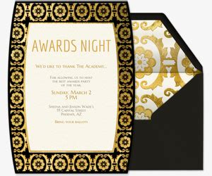 Viewing Party Free Online Invitations Award Invitation Template Free