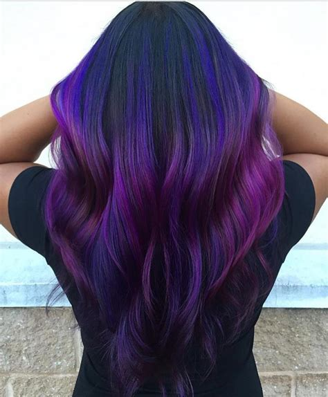 dark purple l shade peacock peekaboo hair colors ideas of dark purple and blue