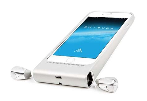 Skybuds iPhone 6s Case Boasts Bluetooth Earbuds and Integrated Power Bank   Gadgetsin