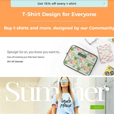 design a shirt coupon codes discount codes from zazzle cafepress and spreadshirt