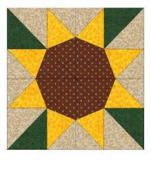Sunflower Quilt Block Pattern sunflower paper pieced quilt block pattern pdf