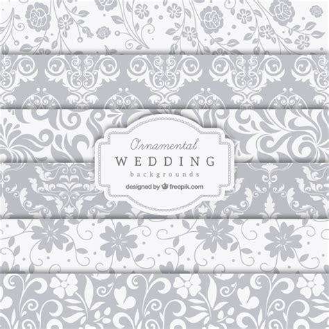 Wedding Background Vector by Ornamental Wedding Backgrounds Vector Free