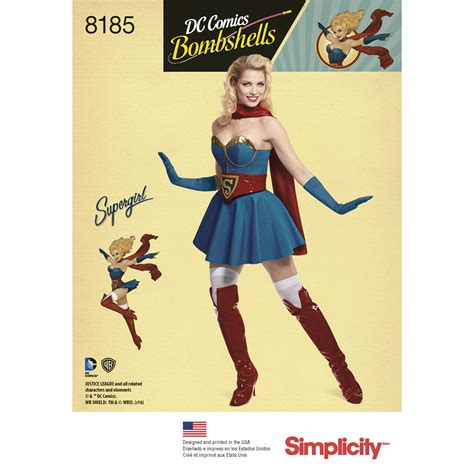 patterns sewing costumes simplicity 8185 misses costume sewing pattern