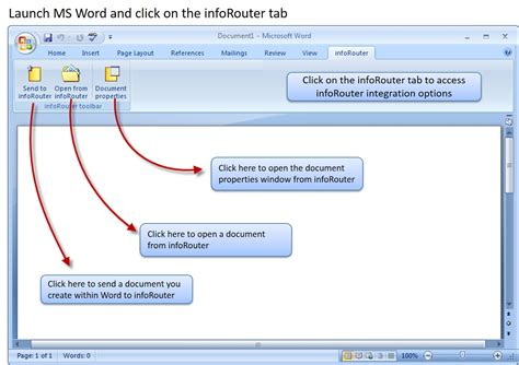 inforouter add in for microsoft word user s guide