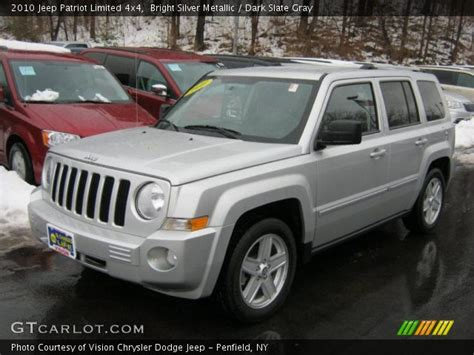 silver jeep patriot with black bright silver metallic 2010 jeep patriot limited 4x4
