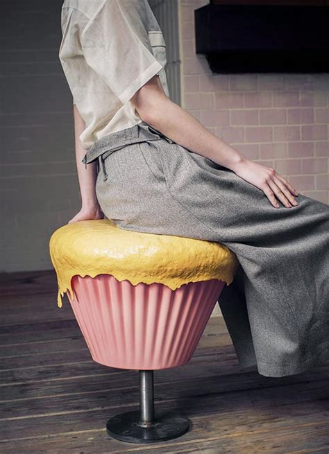 sweeties furniture cupcake stool  biscuit table