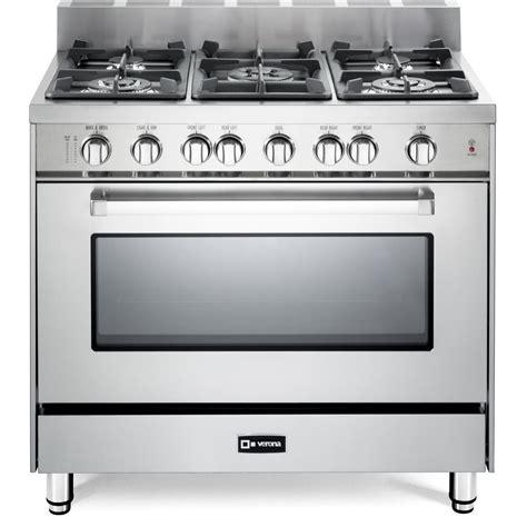 Oven Gas Stainless verona vefsgg365nss 36 inch 5 burner gas range stainless