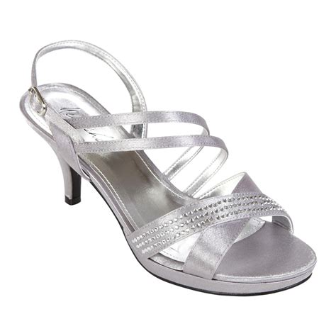 womens victoria silver dress shoe elegant footwear  sears