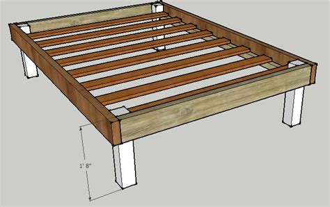 how to build a size platform bed frame 17 best ideas about diy bed frame on diy bed