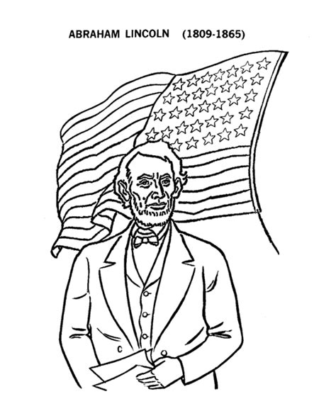 free h and abraham coloring pages