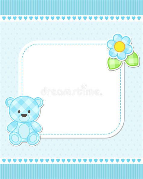 Teddy Baby Shower Invitation Template Free by Blue Teddy Card Stock Vector Illustration Of
