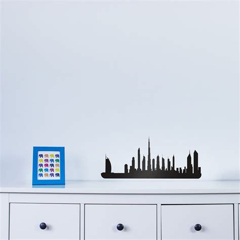 wall stickers city dubai city skyline vinyl wall decal for home decor