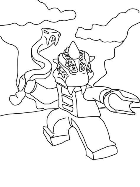 Ninjago Serpentine Coloring Pages Ninjago Free Printable Coloring Pages