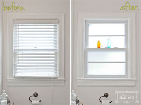 Bathroom Window Blinds by Frosting Some Windows Beautiful Matters