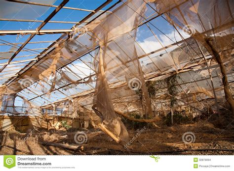 country side green house broken and abandonned greenhouse stock images image 32879094