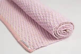 baby pink and white mat cotton rug cotton mat handmade on