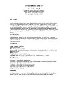 Web Copywriter Cover Letter by Exle Sponsorship Web Copywriter Cover Letter Sponsorship Exles 5 Exle
