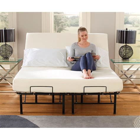 temporary beds tranquil sleep 174 portable adjustable bed frame foundation 224379 mattresses