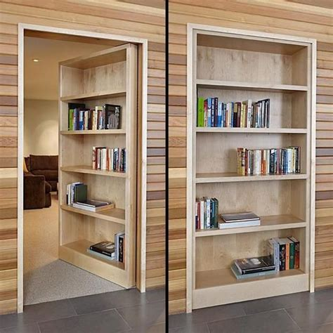 Space Saving Interior Doors With Shelves Offering Space Saving Bookshelves