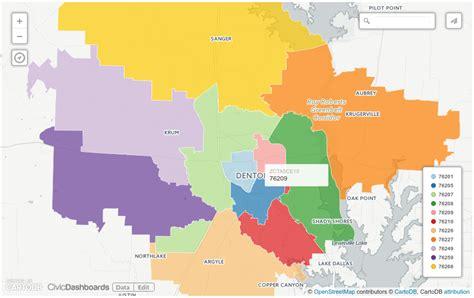 zip code map denton tx denton tx zip code map zip code map