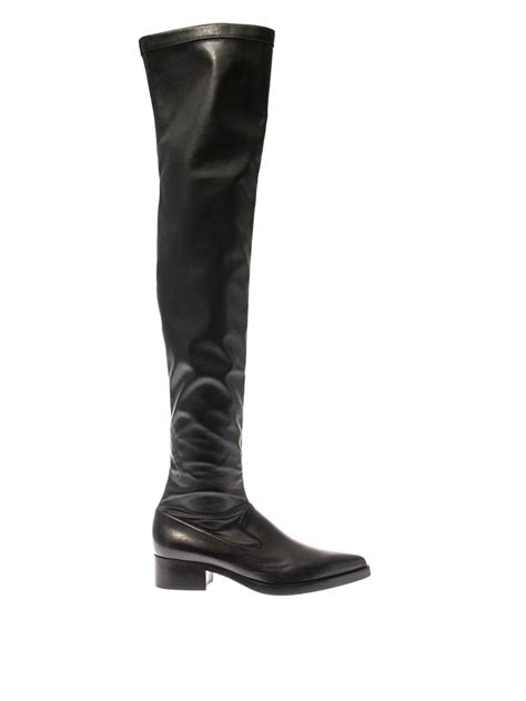 faux leather thigh high boots stella mccartney faux leather thigh high boots in