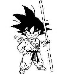 piq black white kid goku 200x200 pixel art ivorymalinov