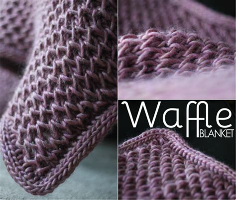 waffle stitch crochet tutorial waffle blanket free pattern knit and crochet pinterest