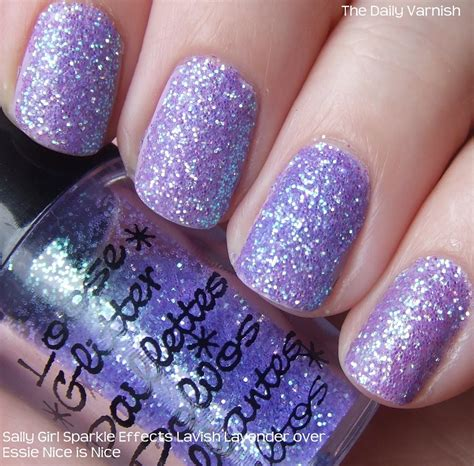 Glitter Nail by Diy Glitter Nails The Daily Varnish