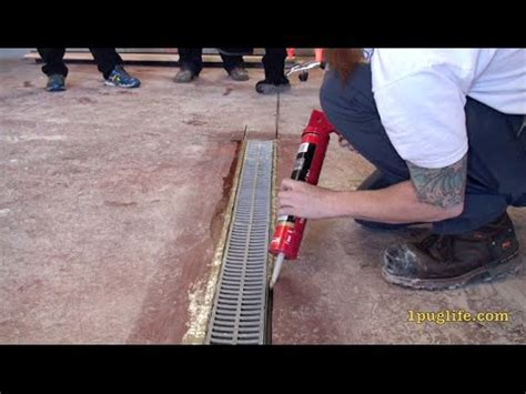how to install a floor drain   YouTube