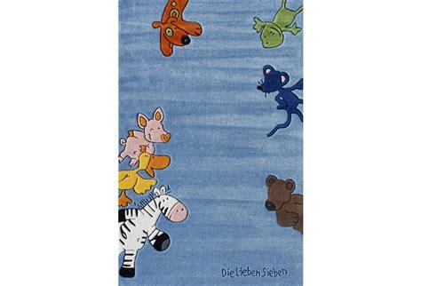 die lieben sieben teppich die lieben sieben kinder teppich blau 214 ko tex