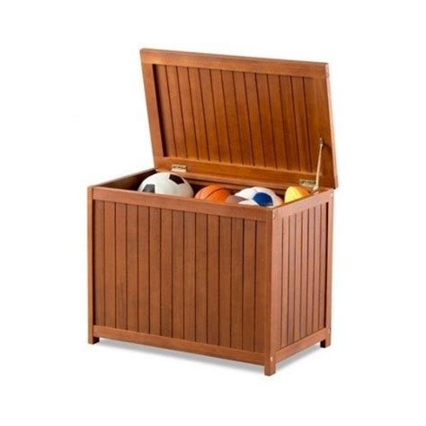 wooden outdoor patio garage storage box eucalyptus 24